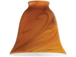 Westinghouse 8136300 2.5 x 1.3 in. Burnt Umber Swirl Bell Shaped Glass Shade, Pack of 4