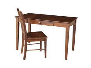 International Concepts K-581-41-10 Desk with drawer - basic size and chair Espresso