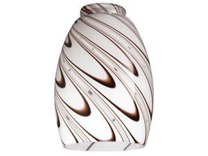 Westinghouse 8141000 2.5 x 1.75 in. Chocolate Drizzle Glass Shade, Pack of 4
