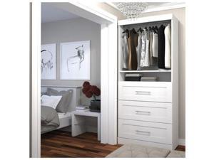 Bestar 26872-17 Storage Unit with 3 Drawer Set White