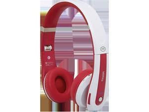 MiiKey Rhythm Pro Bluetooth Stereo Headphones - White & Red