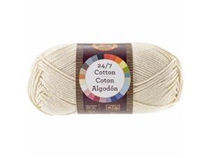 Lion Brand 761-98 24&7 Cotton Yarn - Ecru