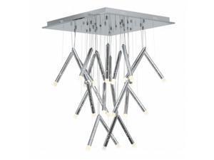 Rain 70053LED-CH-ACR  LED Light Chandelier with Acrylic Shade, Chrome Finish