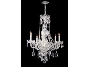 Crystorama Lighting 1115-CH-CL-SAQ Traditional Crystal Collection Chandelier - Polished Chrome