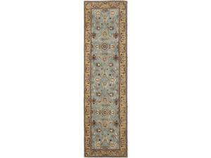 Safavieh HG958A-220 2 ft. - 3 in. x 20 ft. Runner, Traditional Heritage Blue And Gold Hand Tufted Rug