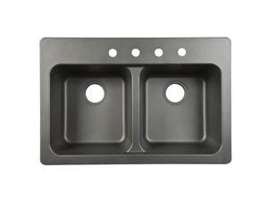 Franke FTB904BX Black Double Bowl Sink - 9 ft.