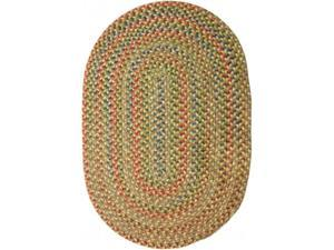 Rhody Rug KA53R036X060 Katie 3 x 5 ft. Multi Indoor-Outdoor Oval Braided Rug, Camel