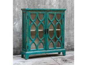 Uttermost 25648 Theona Azure Blue Console Cabinet