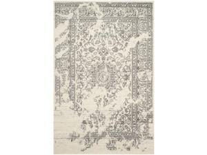Safavieh ADR101B-8SQ 8 x 8 ft. Square Casual Adirondack, Ivory and Silver Power Loomed Rug