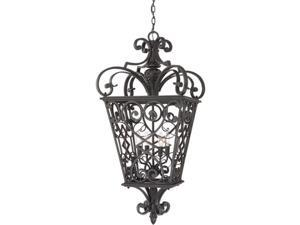 Quoizel French Quarter Traditional Marcado Black Extra Large Hanging Lantern