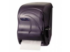 San Jamar. T1190TBK Lever Roll Towel Dispenser, 12 15/16'' x 9 1/4'' x 16 1/2'', Plastic, Black