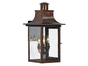 Quoizel Chalmers Traditional Aged Copper Large Wall Lantern