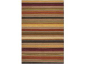 Safavieh STK315A-24 2 ft. 6 in. x 4 ft. Contemporary Striped Kilim Gold Runner Rug