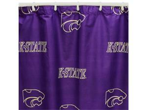 Comfy Feet KSUSC Kansas State Printed Shower Curtain Cover 70 in. X 72 in.