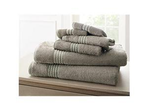 Luxury Home Bamboo Towel Set, Gray - 6 Piece Set