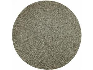 Rhody Rug SA88R048X048 Sandi 4 ft. Tweed Indoor-Outdoor Round Braided Rug, Graphite