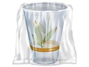 Dcc RTP9DBAREW Bare Wrapped RPET Cold Cups, 9oz. Clear With Leaf Design