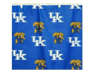 Comfy Feet KENSC Kentucky Printed Shower Curtain Cover 70 in. X 72 in.