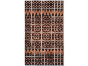 Safavieh KNY609A-7SQ Kenya Hand Knotted Square Rug, Orange - Black, 7 x 7 ft.