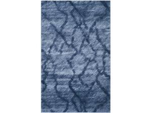 Safavieh RET2144-6570-4 4 x 6 ft. Small Rectangle Contemporary Retro Blue & Dark Blue Shag Rug