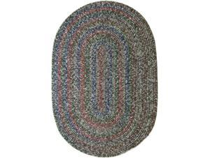 Rhody Rug SO85R120X156 Sophia 10 x 13 ft. Multicolor Indoor-Outdoor Oval Braided Rug, Graphite Gray