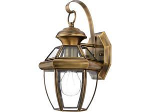 Quoizel Newbury Traditional AntiqueBrass Small Wall Lantern