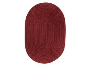 Rhody Rug S005A015X015 Solid Chair Pad Colonial Red