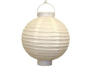 JH Specialties 79003 Battery Operated Paper Lanterns - 8 in. - White - 3 Count