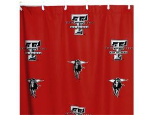 Comfy Feet TTUSC Texas Tech Printed Shower Curtain Cover 70 in. X 72 in.