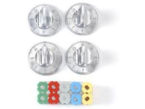 Lux Products CPR405 Chrome Electric Top Burner Knobs, 4 Pack