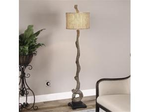 Uttermost 28970 Weathered Driftwood One-Light Floor Lamp