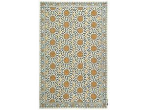 Safavieh HK150A-220 2 ft. - 6 in. x 20 ft. Runner, Country & Floral Chelsea Ivory And Blue Hand Hooked Rug