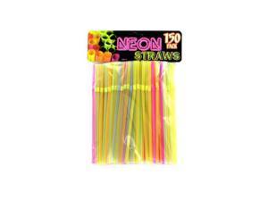 Bulk Buys HR012-100 Neon Party Bending Straws