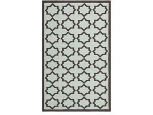 Safavieh DHU549A-10 10 ft. x 14 ft. Large Rectangle Contemporary Dhurries Light Blue & Ivory Flatweave Rug