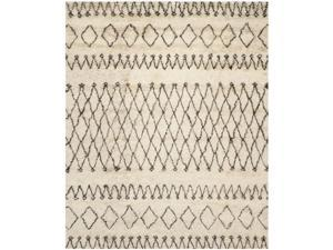Safavieh CSB851A-9 Casablanca Hand Tufted Large Rectangle Rug, White - Black, 9 x 12 ft.