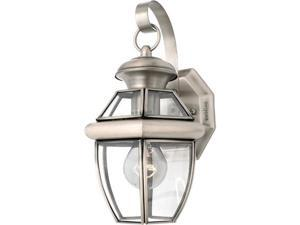 Quoizel Newbury Traditional Pewter Small Wall Lantern