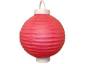 JH Specialties 79403 Battery Operated Paper Lanterns - 8 in. - Red - 3 Count