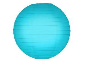 JH Specialties 78505 Round Paper Lanterns - 10 in. - Turquoise - 5 Ct