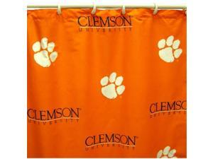 Comfy Feet CLESC Clemson Printed Shower Curtain Cover 70 in. X 72 in.