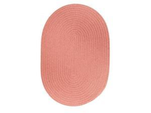 Rhody Rug S106R048X048 Solid 4' Round Wool Rug Old Rose