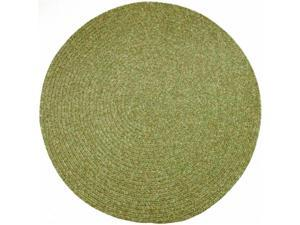 Rhody Rug SA68R072X072 Sandi 6 ft. Tweed Indoor-Outdoor Round Braided Rug, Bayleaf