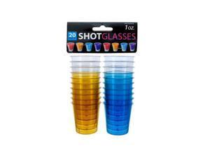 Bulk Buys OC101-72 Plastic Shot Glasses