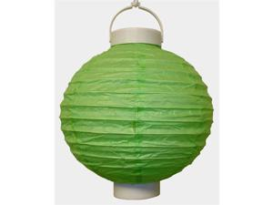 JH Specialties 79603 Battery Operated Paper Lanterns - 8 in. - Green - 3 Count