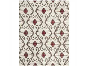 Safavieh WYD323B-9 8 ft. 9 in. x 12 ft. Large Rectangle Contemporary Wyndham Ivory & Brown Hand Tufted Rug
