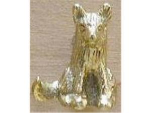 Mayer Mill Brass SFDP-1 Sitting Fox Drawer Pull - Brass