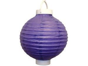JH Specialties 79303 Battery Operated Paper Lanterns - 8 in. - Purple - 3 Count
