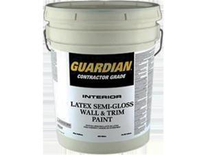 Valspar Paint 455 5 Gallon, White Guardian Contractor Interior Semi-Gloss Latex Wall & Trim Paint