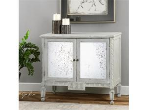 Uttermost 24582 Okorie Gray Console Cabinet