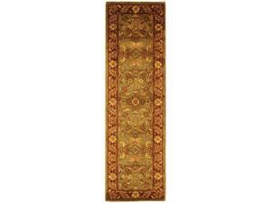 Safavieh GJ250A-220 2 ft. - 3 in. x 20 ft. Runner, Traditional Golden Jaipur Green And Rust Hand Tufted Rug