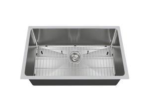 Polaris Sinks PS0213-ENS The Polaris Sinks P0213S 18 Gauge Kitchen EnsembleBundle - 3 Items: Sink, Standard Strainer, and Sink Grid